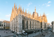 Italy, Lombardy, Milan, Galleria Vittorio Emanuele II and the Cathedral at Piazza del Duomo - TAMF01051