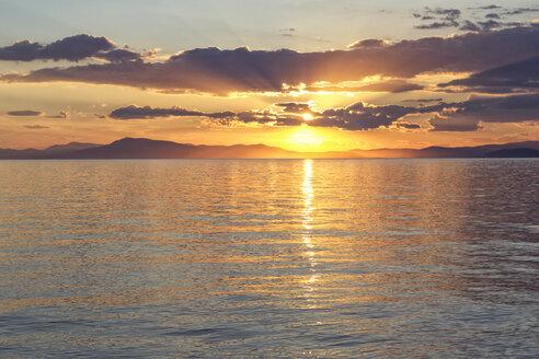 Greece, Ionian Sea, Ionic Islands, Kalamos at sunset - MAMF00080