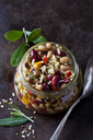Glass of Greek bean salad - CSF29151