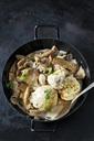 Mushrooms and bread dumpling in cream sauce - CSF29166