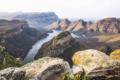 Africa, South Africa, Mpumalanga, Panorama Route, Blyde River Canyon Nature Reserve, Three Rondavels - WEF00441