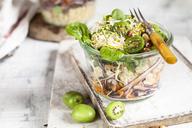 Quinoa salad with lamb's lettuce, cabbage, mini kiwi and hazelnuts - SBDF03561