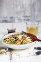 Salad with glas noodles, cabbage, carrots, bell peppers, spring onions, peanuts and hot thai dressing - SBDF03578