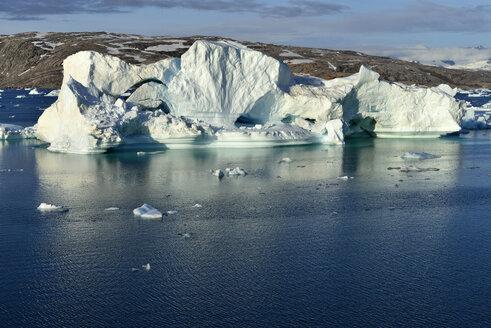 Greenland, East Greenland, Johan Petersens Fjord, Iceberg drifting - ESF01623