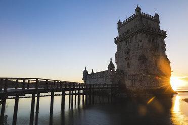 Portugal, Lisbon, Belem Tower at sunset - WPEF00219