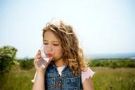 Girl drinking water - CUF00773