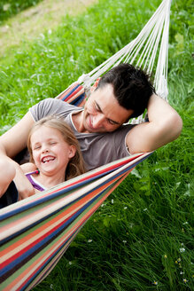 Father And Daughter In Hammock - CUF00800