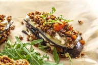 Aubergine lasagne on baking paper, vegetarian - SARF03716