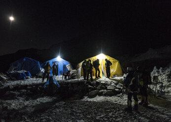 Nepal, Solo Khumbu, Everest Base Camp at night - ALRF01066