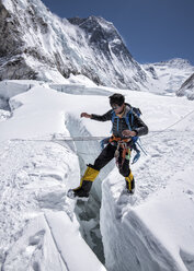 Nepal, Solo Khumbu, Everest, Mountaineer at Western Cwm - ALRF01144