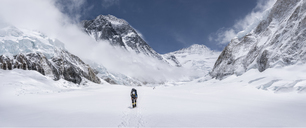 Nepal, Solo Khumbu, Everest, Mountaineer at Western Cwm - ALRF01153