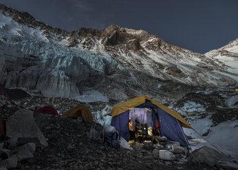 Nepal, Solo Khumbu, Everest, Western Cwm, Camp 2 at night - ALRF01156