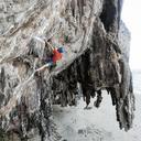 Thailand, Krabi, Lao liang island, climber in rock wall - ALRF01186