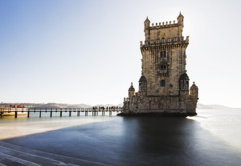 Portugal, Lisbon, View of Belem tower - RAEF02026