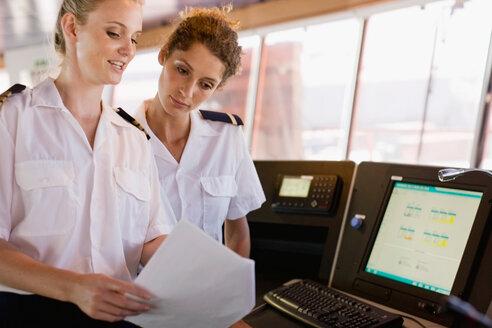 Female sailors doing their work - CUF01054