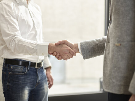Close-up of two businessmen shaking hands - CVF00392