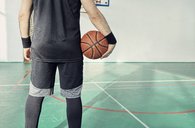 Man with basketball, indoor - ZEDF01363