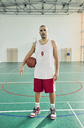 Man with basketball, indoor - ZEDF01369