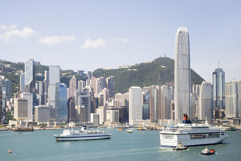Buildings on victoria harbour hong kong - ISF00140