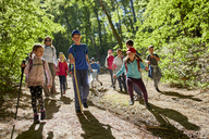 Kids on a field trip in forest - ZEDF01395