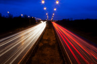 Time-lapse view of traffic at night - CUF01426