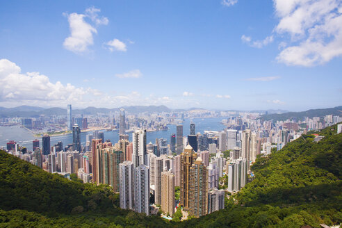 View of Victoria Harbour and Central from Victoria Peak, Hong Kong - ISF00790