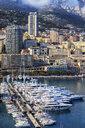 Monaco principality, view from port to Monte Carlo at the Mediterranean Sea - ABOF00339