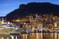Monaco principality at Mediterranean Sea, twilight evening city lights - ABOF00345