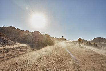 Dusty desert dirt track, San Pedro de Atacama, Chile - CUF02279