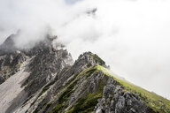 Austria, Salzburg State, Filzmoos, Mountains in fog - HHF05553