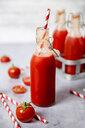 Homemade tomato juice in swing top bottle - RTBF01263