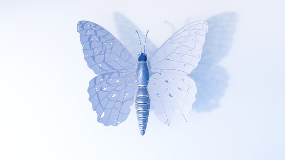 Artificial technical butterfly, 3d rendering - AHUF00500