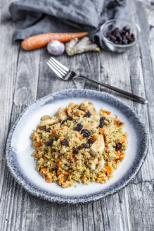 Bulgur with chicken meat, carrot, ginger and raisins - SARF03725