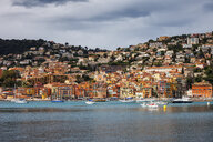 France, French Riviera, Cote d'Azur, Villefranche sur Mer, Old Town at Mediterranean Sea - ABOF00346