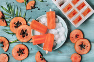 Homemade papaya ice lollies - RTBF01275