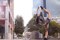 Dancer balancing on one leg, Cape Town, South Africa - CUF05483