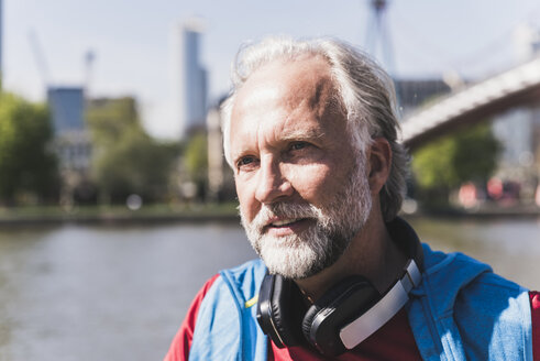Portrait of athletic mature man at the riverside - UUF13726