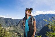 Woman on the Inca Trail close to Machu Picchu, Cusco, Peru - CUF05956