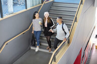 University students going down stairs - CUF06070