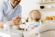 Father feeding baby daughter - CUF06995
