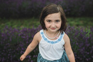 Girl among lavender, Campbellcroft, Canada - CUF07705