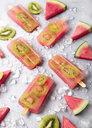 Homemade watermelon kiwi ice lollies - RTBF01284