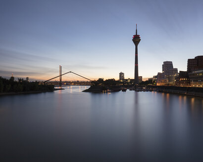 Rhine Tower, Oberkasseler Bridge, Düsseldorf, Germany - CUF08814