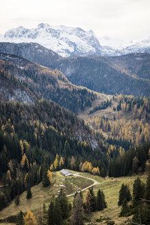 Germany, Bavaria, Berchtesgaden Alps, Schneibstein in autumn - HAMF00284