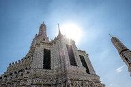 Thailand, Bangkok, temple Wat Arun at backlight - MMIF00055