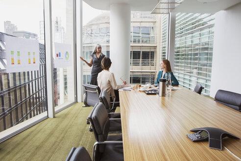 Businesswomen preparing presentation in meeting room - CUF09008