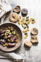 Mediterranean dried fruits in bowl, close-up - CUF09416