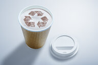 Recycle symbol in recyclable coffee cup - CAIF20545