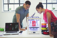 Designers watching 3D printer - CAIF20590