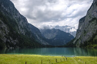 Germany, Bavaria, Berchtesgaden Alps, Obersee and Watzmann - HAMF00308
